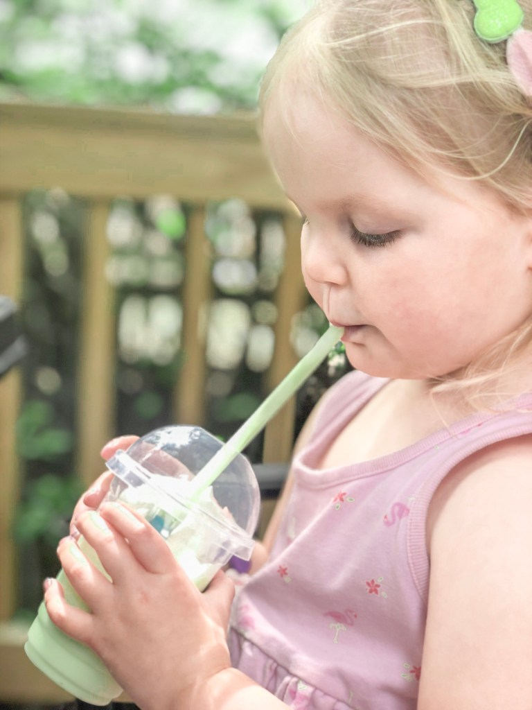 drinking frappe