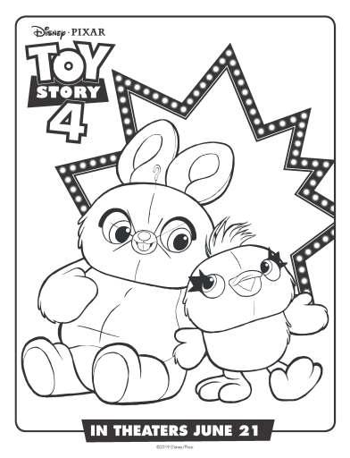 Ducky & Bunny Coloring