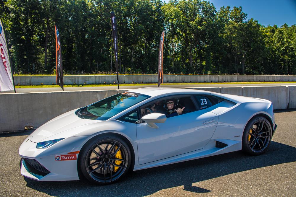 White Lamborghini Huracán
