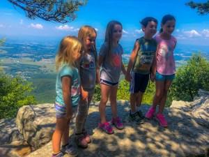 kids on Massanutten Peak