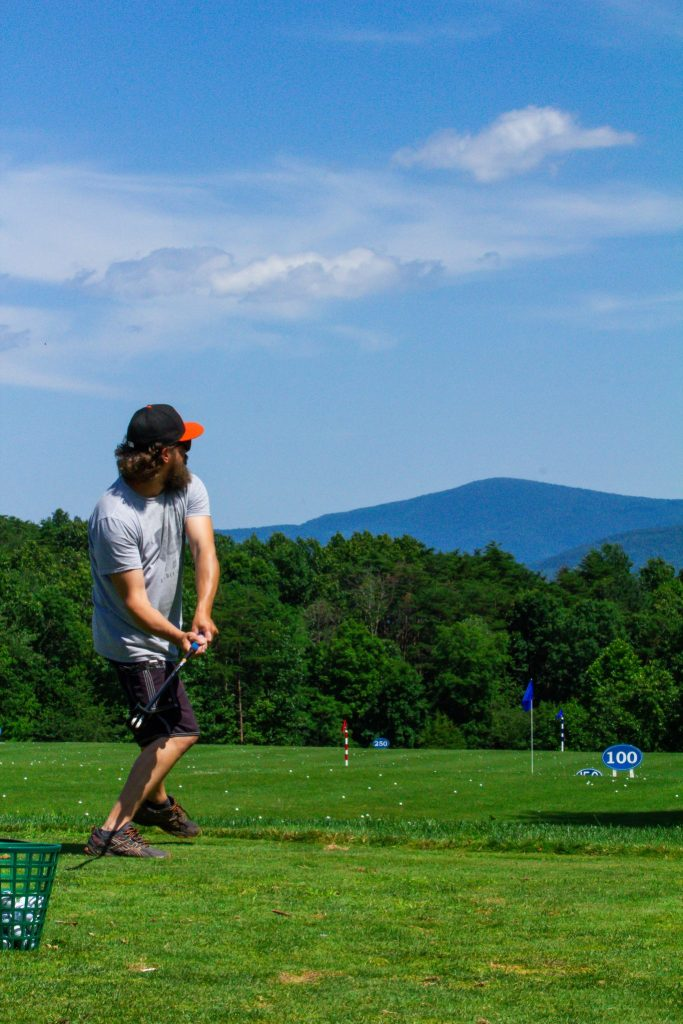 fling golf dad