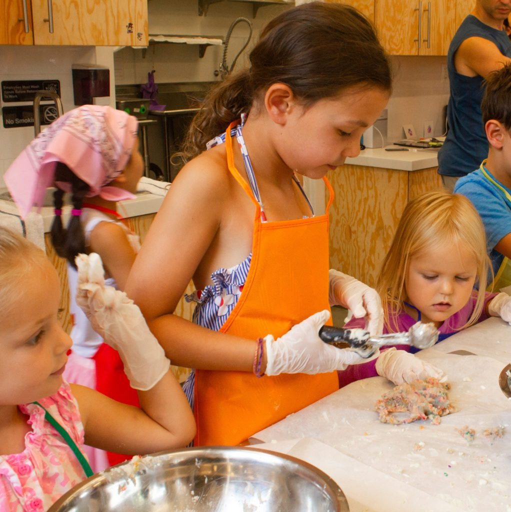 Camp Milk Bar cake truffle making