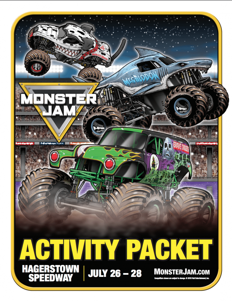 Monster Jam Activity Packet
