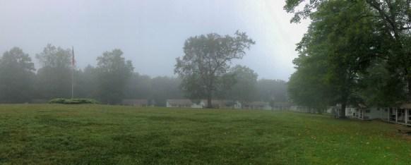 Camp Twin Creeks foggy morning