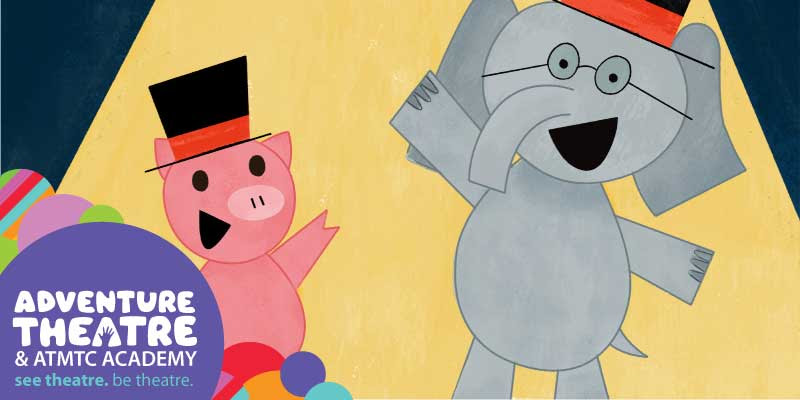 "Elephant and Piggie's ""We Are In A Play!"" at Adventure Theatre logo"