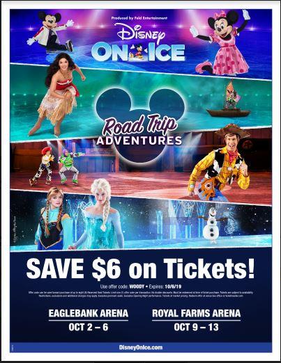 Disney On Ice presents Road Trip Adventures flyer