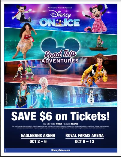 Disney On Ice presents Road Trip Adventures flyer