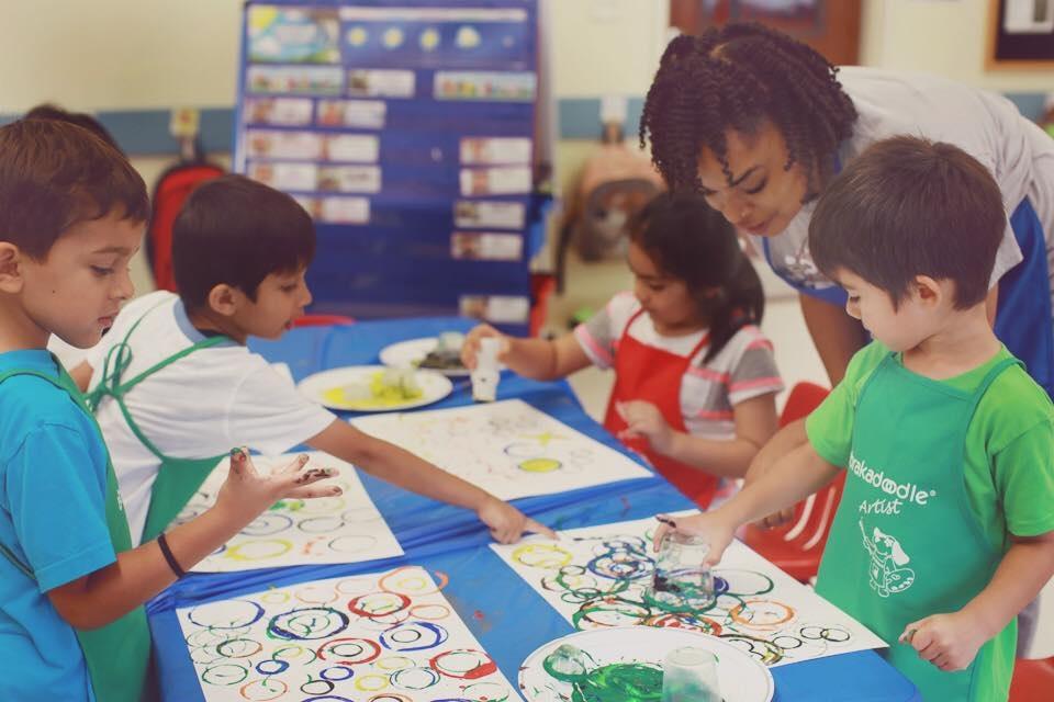 Abrakadoodle kids art class