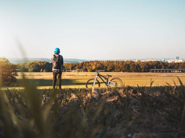 Prague bicycling