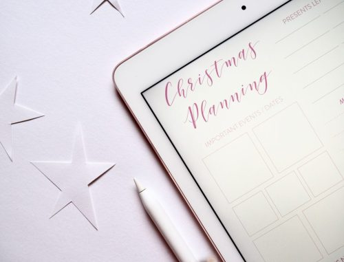 Screen with Christmas planner open