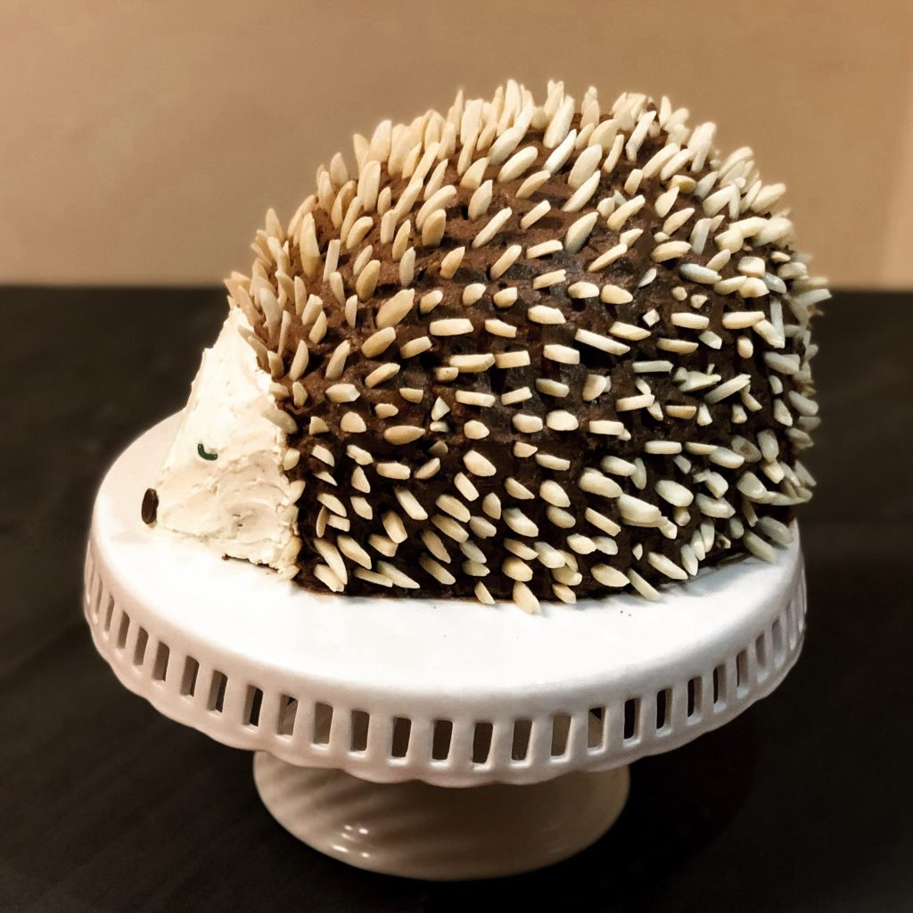 Christmas Hedgehog Cake