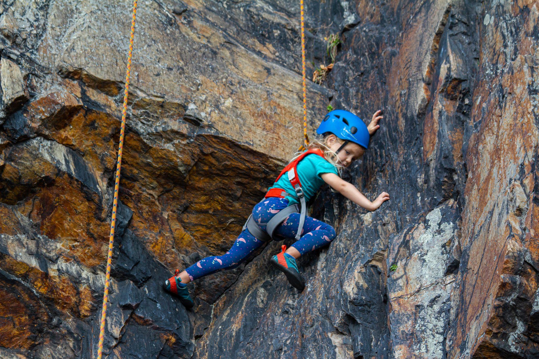 rock climbing preschooler