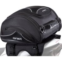 Cortech Super 2.0 24-Liter Motorcycle Tail Bag - Black / Size 13.4'' L x 14.2'' W x 7.5'' D