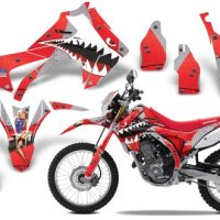 2013-Current Honda CRF 250L AMRRACING ATV Graphics Decal Kit-Warhawk-Red