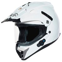 BILT Techno Bluetooth Adventure Motorcycle Helmet - MD, White