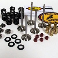 Kibblewhite Intake and Exhaust Valves and Spring Kit with Guides YFZ 450 450R YZ450F WR 450F