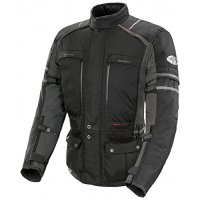 Joe Rocket Ballistic Adventure Men's Textile Sports Bike Racing Motorcycle Jacket - Black/Gunmetal / Medium