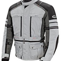 Joe Rocket Ballistic Adventure Men's Textile Touring Motorcycle Jacket (Silver/Gunmetal, X-Large)