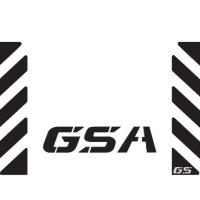 "The Pixel Hut gs00019b BMW GS Motorcycle Reflective Decal Kit ""GSA Chevron"" for Touratech Top Case Box - Black"