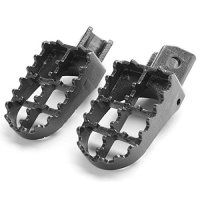 Krator Yamaha Motocross MX Black Foot Pegs Footrests - PW50, PW80, TTR90, and TW200 (1981-2012) Dirtbike Foot Rest Stomper Footpegs