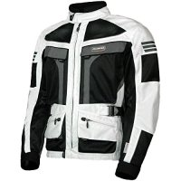 Olympia Moto Sports MJ222 Men's Dakar Dual Sport Mesh Tech Jacket (Ivory/Black, Large)