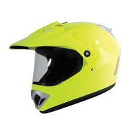 Torc T37 Yellow Hi-Vis Adventure Motorcycle Helmet (Large)