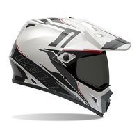 Bell Barricade Men's MX-9 Adventure Dirt Bike Motorcycle Helmet - White / 2X-Large