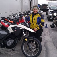 Me with the new BMW G650GS