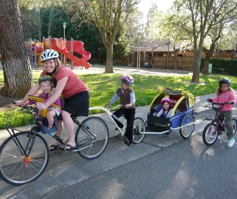 teaching your kids to bike