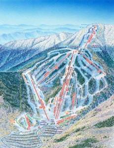 Trailmap for waterville valley resort in new hampshire