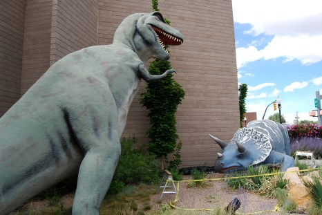 Dinosaur Statue at Utah Fieldhouse of Natural History in Vernal, Utah