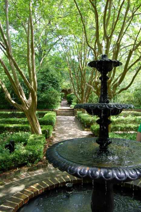 Fountain in South Carolina Governors Mansion Gardens
