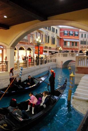 Venetian Canal in Macau, China