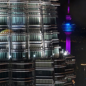 KL Tower and Petronas Twin Towers