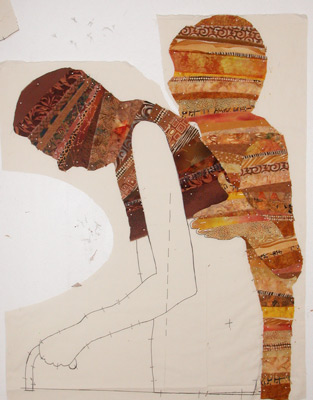 Body Language quilts by Ellen Lindner. AdventureQuilter.com