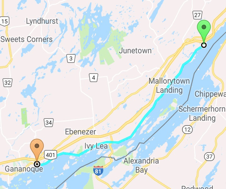 The 1000 Islands Waterfront Trail- A 37.5k (or 75k) Bike Ride ...  Islands Map on