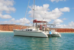 Anchored at Red Cliffs.