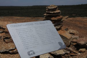 Information plaque at the summit.
