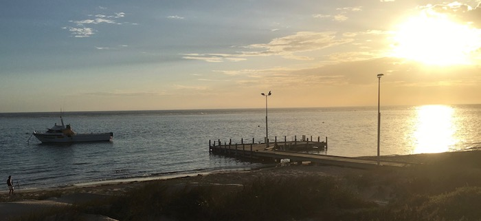 Early morning at Port Gregory jetty.