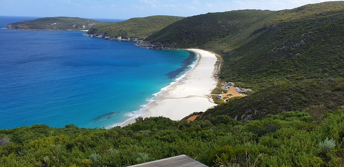 Shelley Beach, West Cape Howe, from the hang glider launch site.