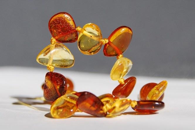 teething baby amber beads