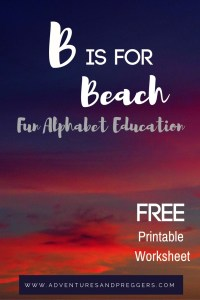 Fun Alphabet Education, the letter B.  Free printable activity inside. Click now.