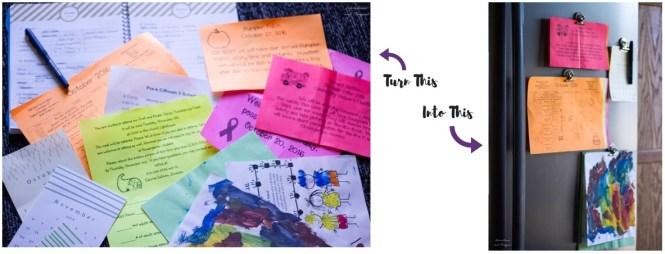organize school papers from child
