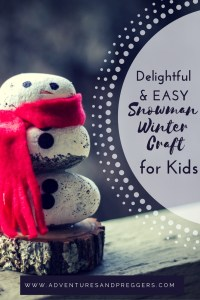 Delightful and Easy Snowman Winter Craft for Kids- Simple winter craft for preschoolers and kids. Easy rock snowman winter craft that requires minimal effort to assemble. This adorable rock snowman is stunning as a homemade gift or decor. Pin now and craft later!