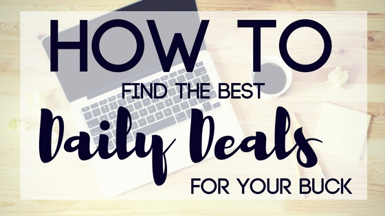 how to find daily deals