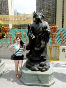 posing with my zodiac animal