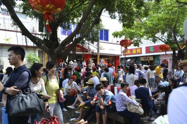 Xiamen crowded
