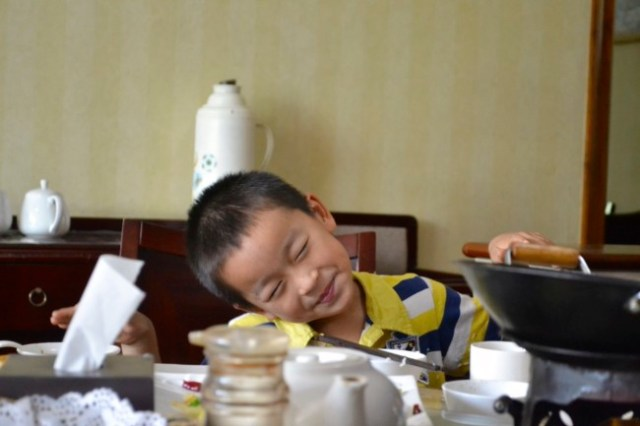 China little kid banquet