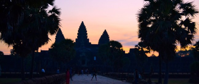 Exploring Angkor Wat at Sunrise