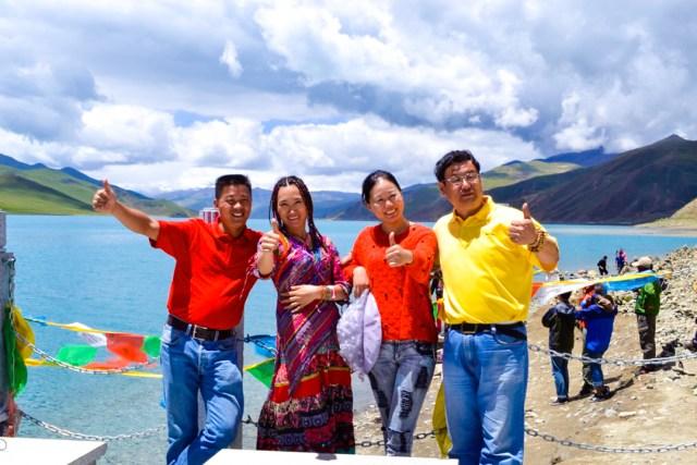 Chinese people posing